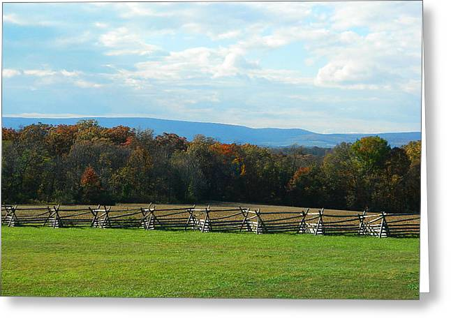 Greeting Card featuring the photograph Gettysburg Battlefield And Beyond by Emmy Marie Vickers