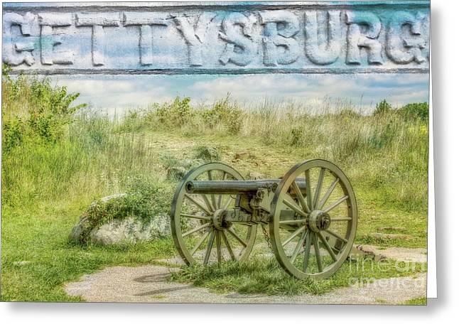 Gettysburg Battlefield Cannon Greeting Card by Randy Steele
