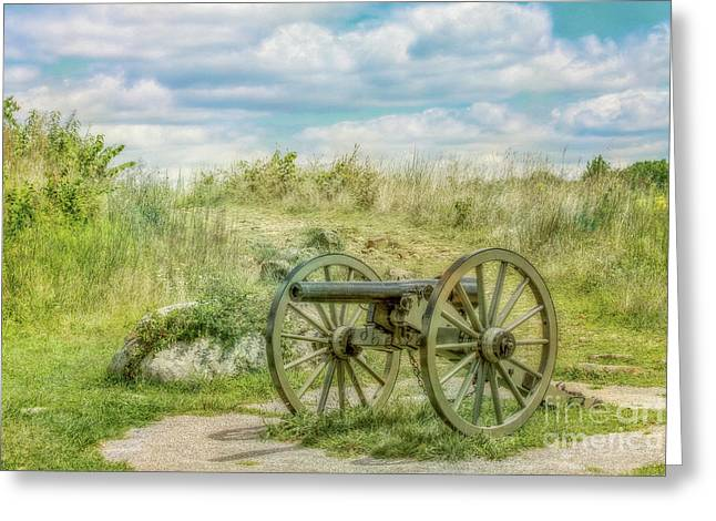 Gettysburg Battlefield Cannon Ver Two Greeting Card