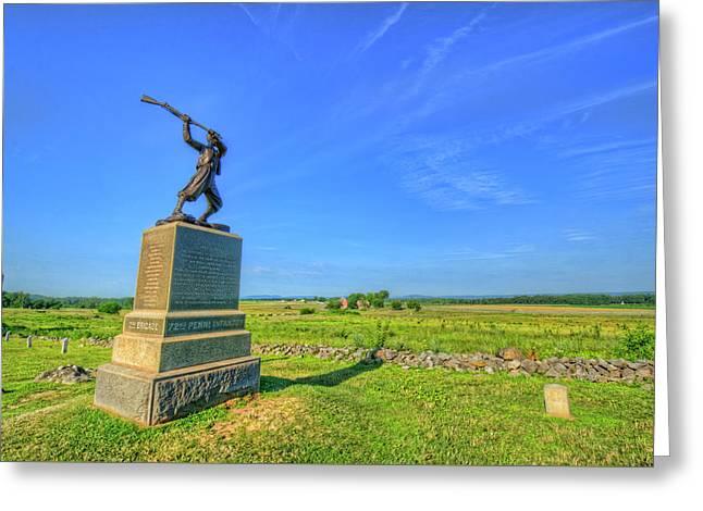 Gettysburg Battlefield Greeting Card by Craig Fildes