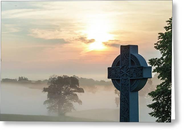 Gettysburg Battlefield Sunrise Greeting Card by Bill Caldwell
