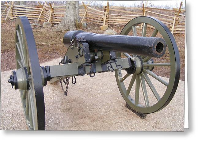 Gettysburg Cannon Greeting Card by Adam Cornelison
