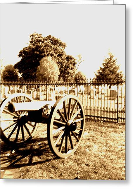 Gettysburg Cannon Greeting Card by Utopia Concepts