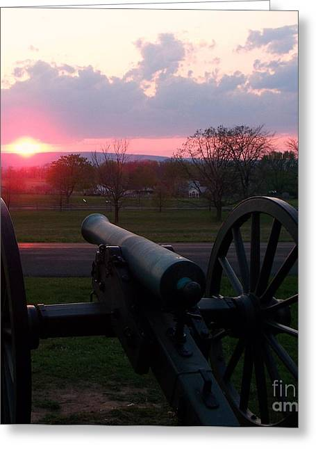 Gettysburg Cannon Greeting Card by Eric  Schiabor