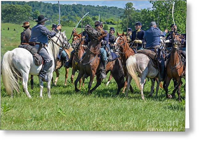 Gettysburg Cavalry Battle 7970c  Greeting Card