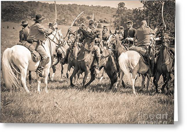 Gettysburg Cavalry Battle 7970s  Greeting Card