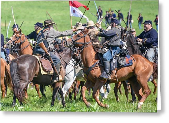 Gettysburg Cavalry Battle 8021c  Greeting Card