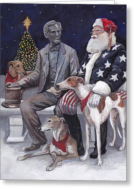 Gettysburg Christmas Greeting Card by Charlotte Yealey