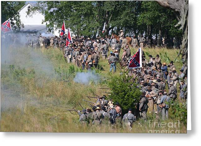 Gettysburg Confederate Infantry 8825c Greeting Card