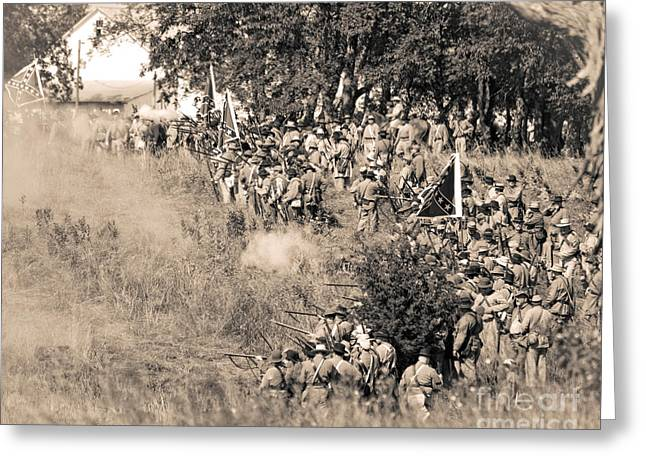 Gettysburg Confederate Infantry 8825s Greeting Card