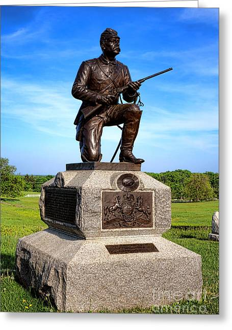 Gettysburg National Park 1st Pennsylvania Cavalry Memorial Greeting Card by Olivier Le Queinec
