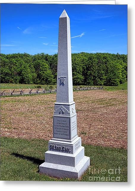 Gettysburg National Park 3rd Indiana Cavalry Memorial Greeting Card