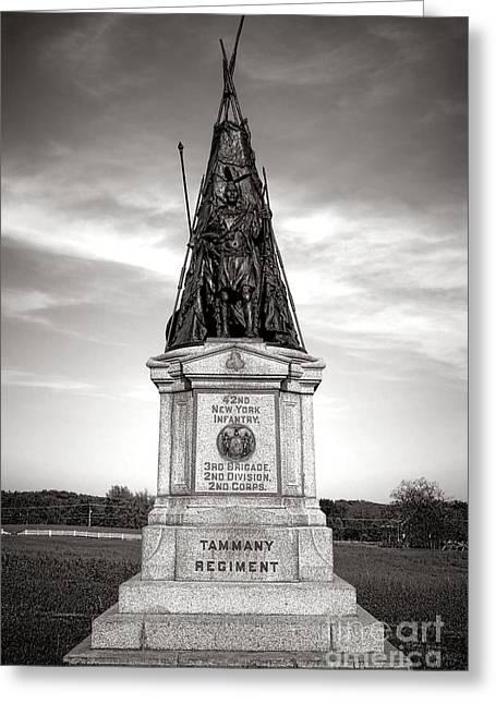 Gettysburg National Park 42nd New York Infantry Monument Greeting Card