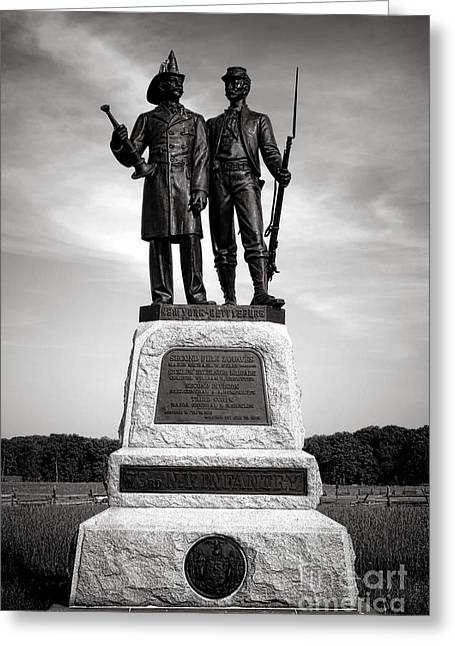Gettysburg National Park 73rd Ny Infantry 2nd Fire Zouaves Monument Greeting Card by Olivier Le Queinec