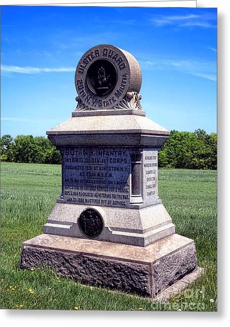 Gettysburg National Park 80th Ny Infantry Militia Memorial Greeting Card