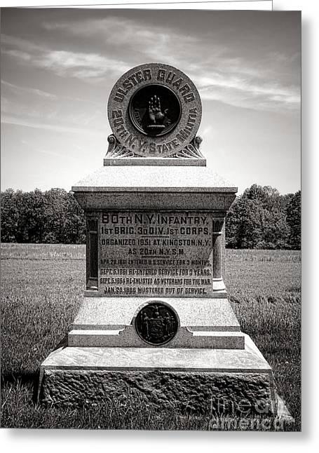 Gettysburg National Park 80th New York Infantry Militia Monument Greeting Card