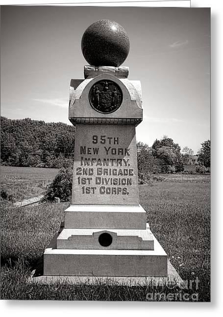 Gettysburg National Park 95th New York Infantry Monument Greeting Card