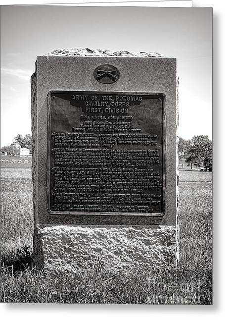 Gettysburg National Park Army Of The Potomac Cavalry Corps Monument Greeting Card
