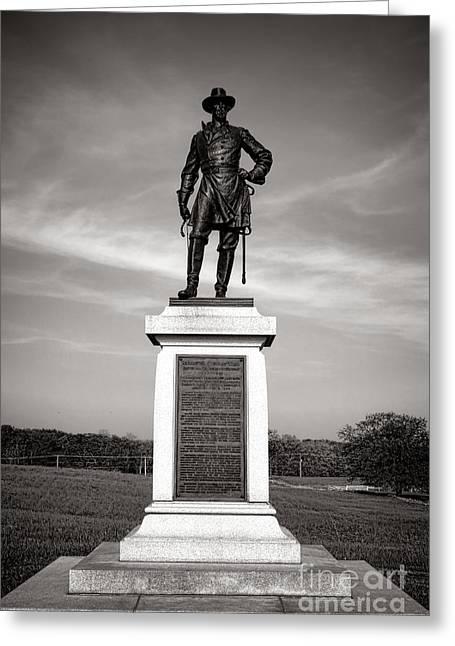 Gettysburg National Park Brigadier General Alexander Webb Monument Greeting Card by Olivier Le Queinec