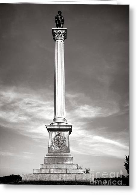 Gettysburg National Park Vermont Stannard Brigade Monument Greeting Card by Olivier Le Queinec
