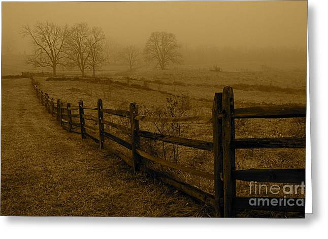 Greeting Card featuring the photograph Gettysburg by Nicola Fiscarelli