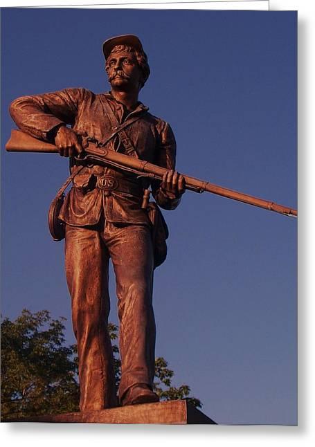 Gettysburg Statue Greeting Card by Eric  Schiabor