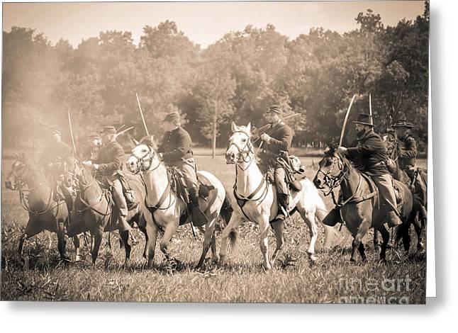 Gettysburg  Union Cavalry 7901s  Greeting Card