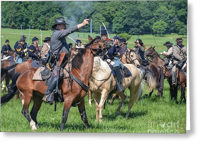 Gettysburg  Union Cavalry 7920c  Greeting Card