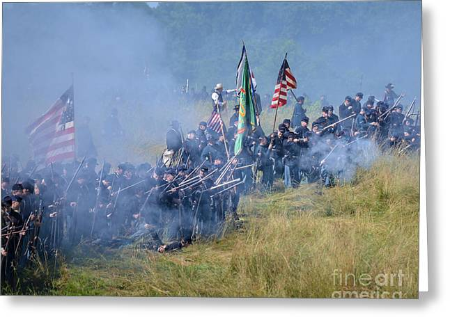 Gettysburg Union Infantry 8947c Greeting Card