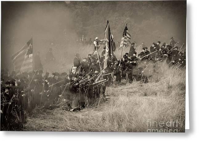 Gettysburg Union Infantry 8947s Greeting Card