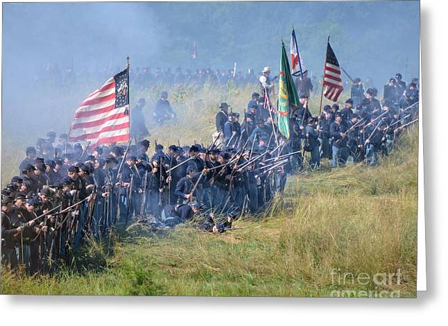 Gettysburg Union Infantry 8948c Greeting Card