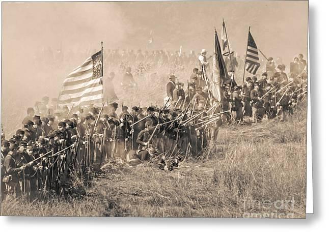 Gettysburg Union Infantry 8948s Greeting Card