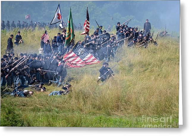 Gettysburg Union Infantry 8963c Greeting Card
