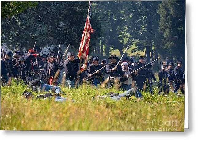 Gettysburg Union Infantry 9348c Greeting Card