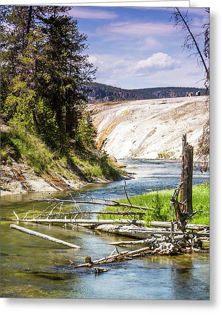 Geyser Stream Greeting Card
