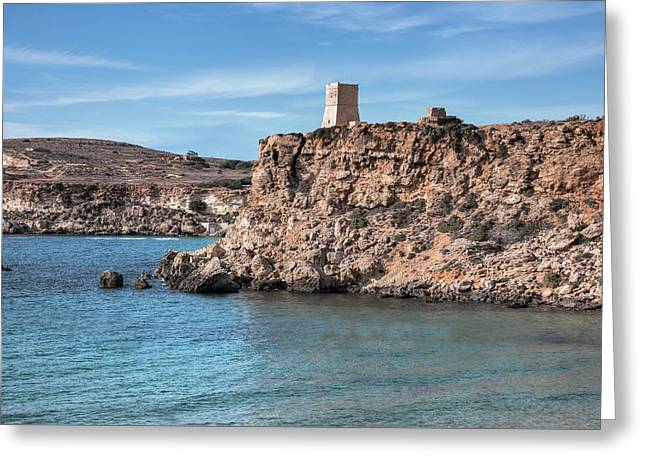 Ghajn Tuffieha Bay - Malta Greeting Card by Joana Kruse