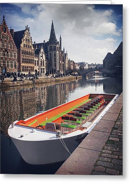 Ghent By Boat Greeting Card by Carol Japp