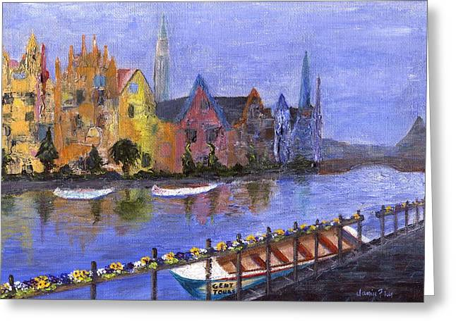Greeting Card featuring the painting Ghent by Jamie Frier