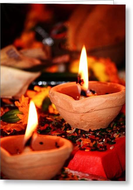Ghi Lamps Greeting Card by Kim Bemis