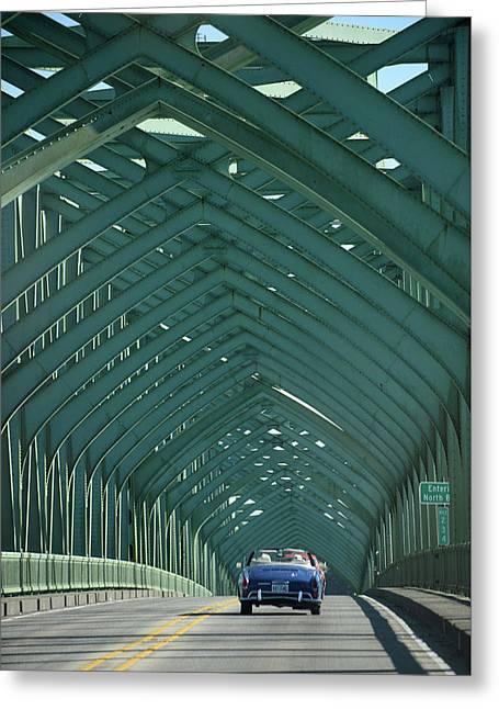 Ghia On A Green Bridge Greeting Card