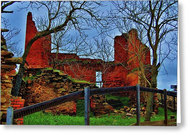 Ghirardelli Ruins Greeting Card by Helen Carson