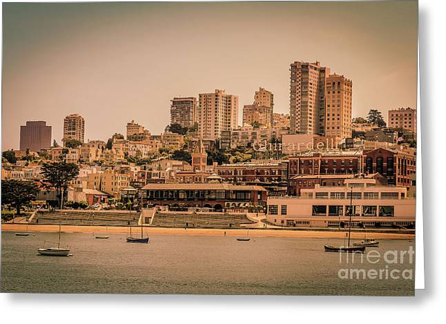 Ghirardelli Square Greeting Card by Claudia M Photography