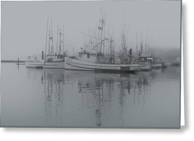 Ghost Boats Greeting Card by Jean Noren