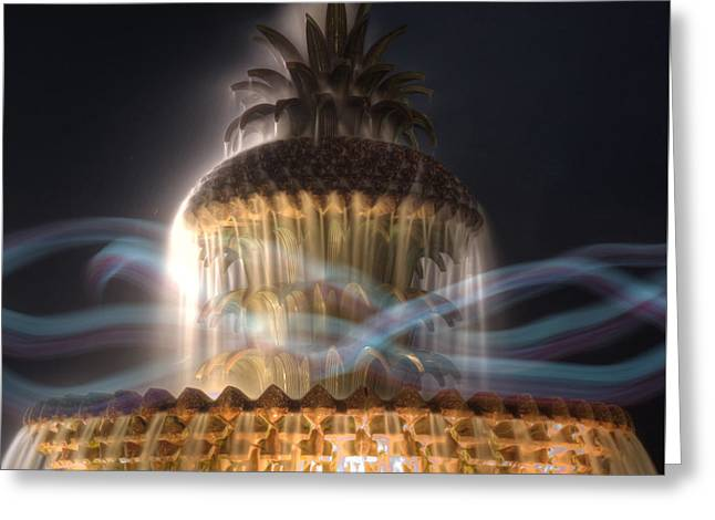 Greeting Card featuring the photograph Ghost Fountain by Michael Colgate