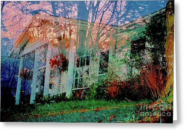 Ghost House Bold Greeting Card by Kasha Baxter