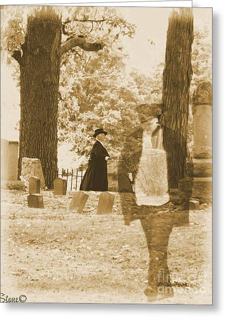 Ghost In The Graveyard Greeting Card