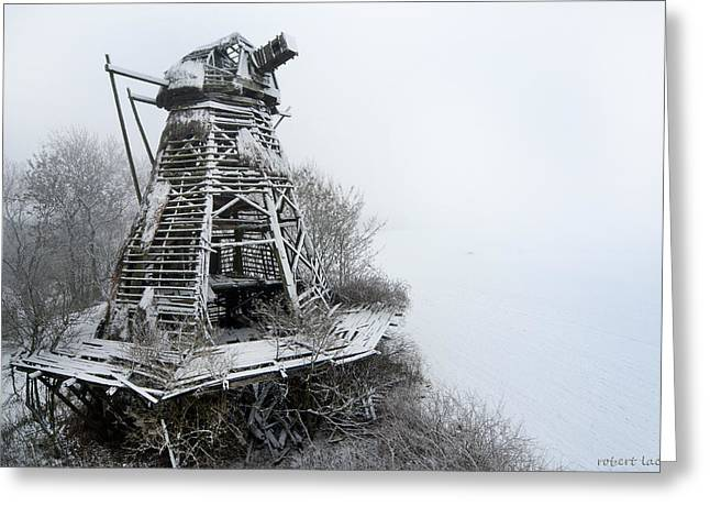 Ghost Mill Greeting Card by Robert Lacy