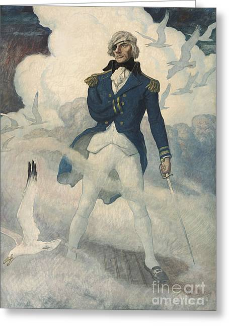 Ghost Of Admiral Nelson Greeting Card
