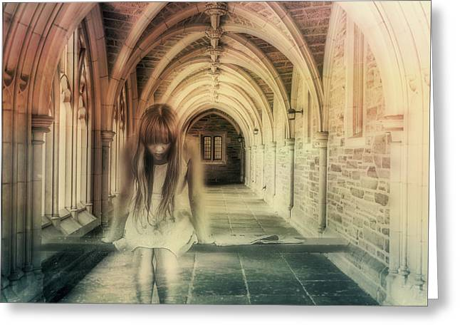Ghost Of The Abbey Greeting Card by Georgiana Romanovna