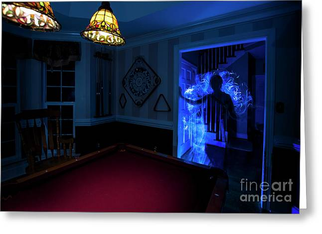 Ghost Of The Parlor Greeting Card